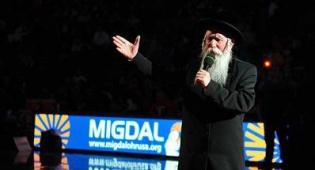 הרב גרוסמן במשחק אמש. צילום: ברוך עזאגווי