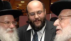 טורצקי עם הרבנים ורנר וכהן. צילום: מאיר דהן