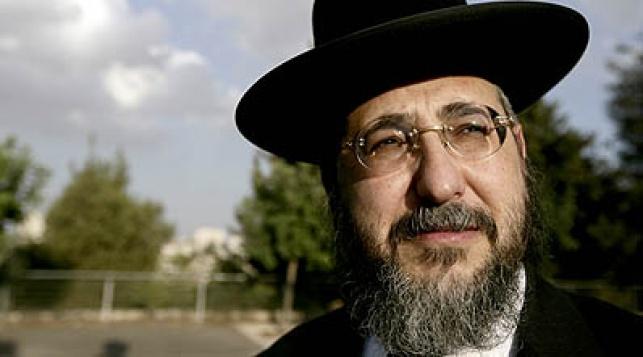 הרב אמסלם. צילום: פלאש 90