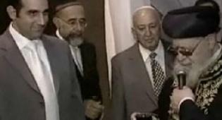 """הגר""""ע יוסף בחתונה, השבוע (צילום: ערוץ 2) - השדכן של נכד הגר""""ע: ערוץ 2"""