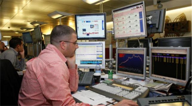 חדר עסקאות בבורסה, צילום פלאש 90