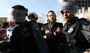 חרדים ושוטרים בירושלים. ארכיון (צילום: פלאש 90)
