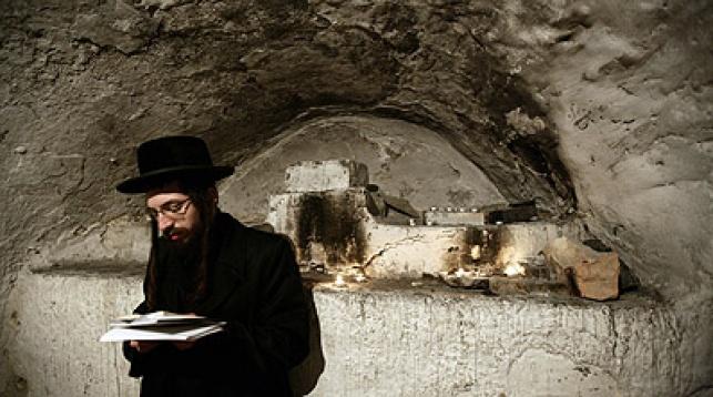 תפילה בקבר דוד, אתמול. צילום: פלאש 90