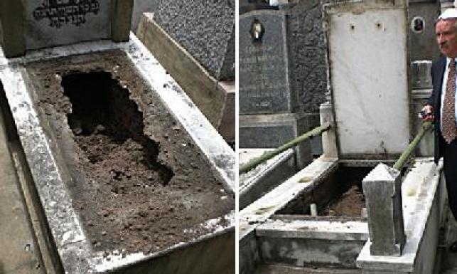 הקברים שנפגעו בארגנטינה