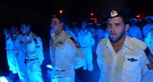 """צוללנים במסדר סיום (צילום: דובר צה""""ל)"""