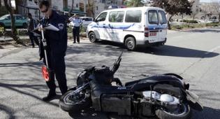 תאונת אופנוע (צילום: פלאש 90)