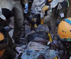 פעולות החילוץ בהאיטי (צילום: פלאש 90)