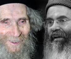 """הגראי""""ל והרב יצחק. מפגש נדיר (צילום: פלאש 90)"""
