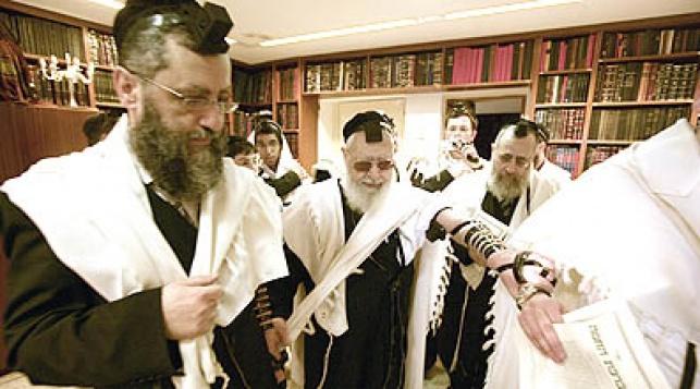 """הגר""""ד יוסף ואביו שליט""""א. צילום: פלאש 90"""