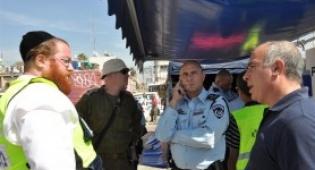 במרכז: מפקד המשטרה המחוזי, ומפקד פיקוד העורף - התרגיל המדובר במדינה: צפו בתמונות