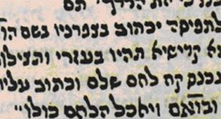 צילום כתב היד של הסגולה
