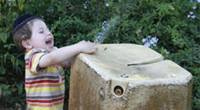 ילדים אוהבים לשחק במים. צילום: פלאש 90