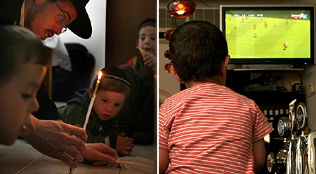 זה מול זה: מצווה עם אבא, צפייה בטלוויזיה