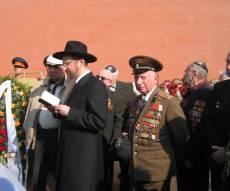 """בה של רוסיה הגר""""ב לאזאר, בתפילה בכיכר האדומה"""