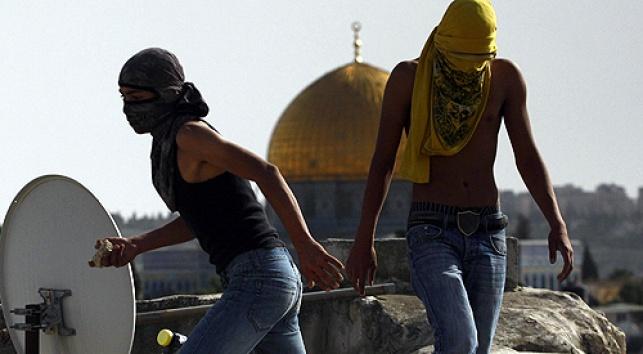 ערבים בהר-הבית (צילום: פלאש 90)