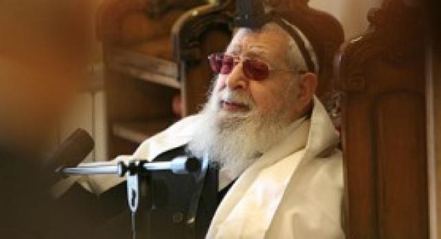 """הגר""""ע יוסף (צילום: מאיר אלפסי, כיכר השבת)"""