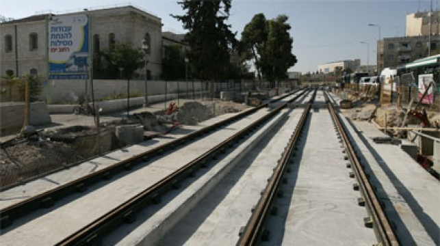 הפסים מחכים. רחוב יפו ירושלים. צילום: פלאש 90