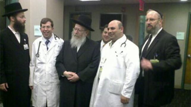 ליצמן נפגש עם רופאי בית החולים מיימונדיס