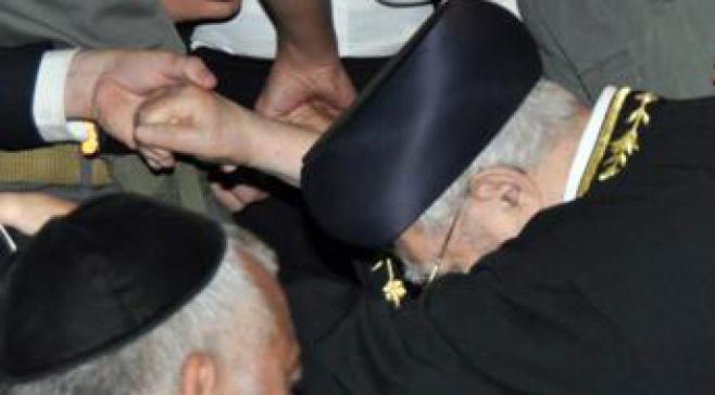 """הגר""""ע בהלוויה (צילום: עוזי ברק, כיכר השבת)"""