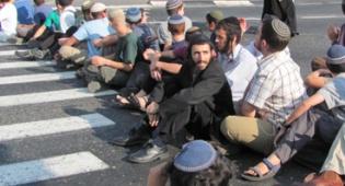 פעילי ימין חסמו את הכניסה לירושלים