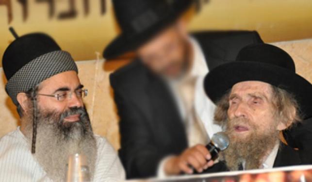 """הגראי""""ל עם הרב אמנון יצחק (צילום: עוזי ברק)"""