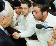 """הנשיא בישיבת """"נר ישראל"""" (צילום: ישראל ברדוגו) - 'האברכים צלולים, קחו דוגמה מהגר""""ע'"""