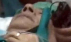 קדאפי בבית-חולים (צילום: ארכיון)