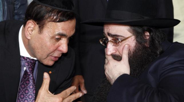 ז´ק אביטל עם הרב פינטו (צילום: אילן סירוטה)