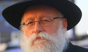 הרב רוזנברג, אמש (צילום: מאיר אלפסי, כיכר השבת)