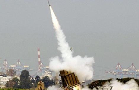 """אילוסטרציה - מל""""ט ריגול סורי שוגר לעבר ישראל ויורט בידי טיל פטריוט"""