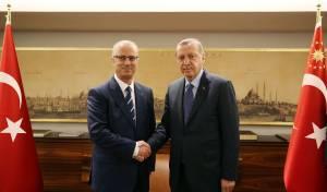 """ארדואן וחמדאללה בפגישה באיסטנבול - ארדואן תוקף שוב: """"צריך להגן על ירושלים"""""""