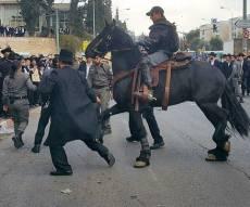 המפגינים חוסמים את הכביש - אנשי 'הפלג' חסמו את צומת בר אילן בירושלים; 9 נעצרו