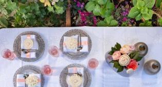 עיצוב פרחים מאוכל