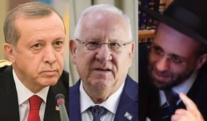 הרב חיים, הנשיא ריבלין וארדואן - הרב הטורקי שיבח את הדיאלוג בין הנשיאים