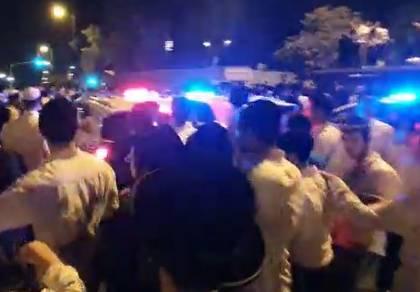 מהומות ליליות סמוך למאה שערים; 7 נעצרו