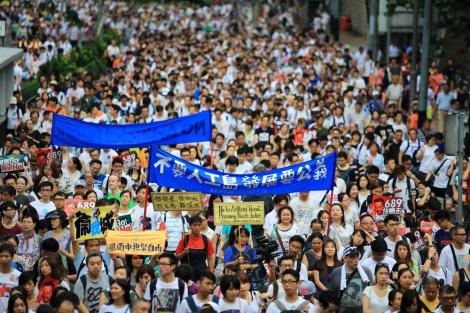 הפגנה בהונג קונג, בחודש האחרון