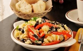 פסטה עם ירקות בגריל