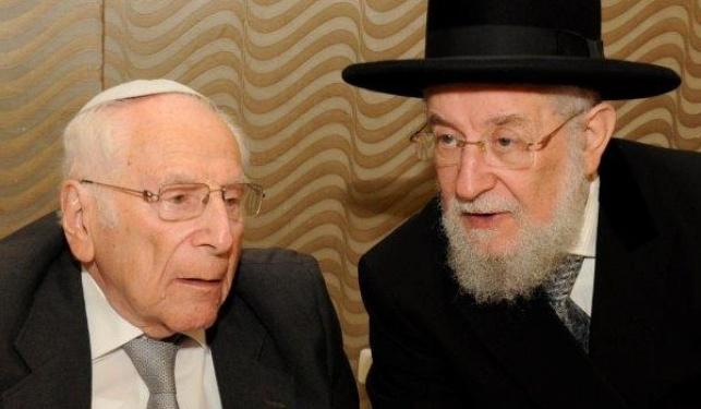 עם אחיו, הרב ישראל מאיר לאו