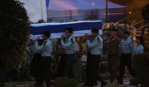 """הלווייתו של זכריה באומל הי""""ד בהר הרצל"""