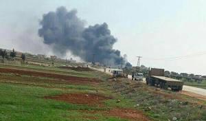 האתר בו התרסק המטוס - המורדים טוענים: הפלנו מטוס עם טיל ביתי