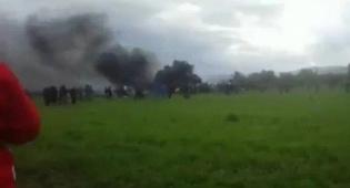 זירת ההתרסקות - 257 הרוגים בהתרסקות מטוס צבא אלג'יריה