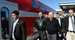 """רה""""מ נתניהו חונך את הרכבת לשדרות - חשש מטילים: אין רכבת לשדרות"""