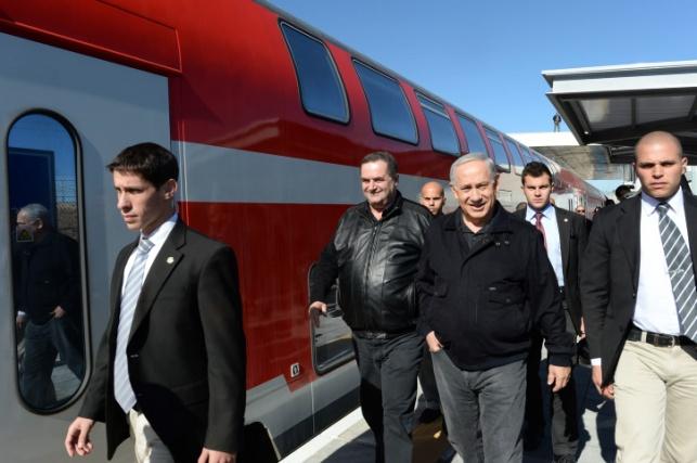 """רה""""מ נתניהו חונך את הרכבת לשדרות"""