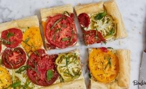 גייסנו את הקינוח למנה המרכזית: טארט עגבניות - הפכנו את הקינוח למנת הפתיחה: טארט עגבניות