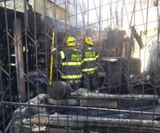 זירת השריפה - שריפת ענק פרצה בשכונת רוממה בירושלים