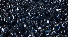 ההפגנה נגד גיוס חרדים בשבוע שעבר (צילום: פלאש 90)
