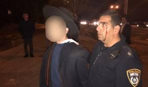 """שוטר שנפצע מאבן בעינו באחת ההפגנות - יעקב אשר על הפגנות הפלג: """"לנו יש תורה"""""""