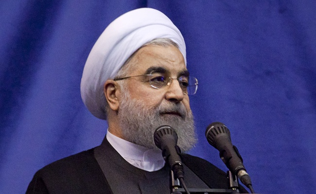 """נשיא איראן חסן רוחאני. ארכיון - רוחאני: """"העוצמה האיראנית - חזקה מתמיד"""""""