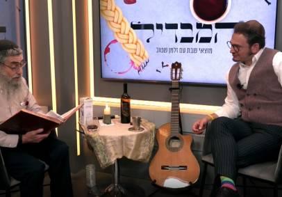 הרב אהרון פלאק עם זלמן שטוב