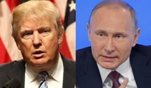 הנשיאים פוטין טראמפ. ארכיון